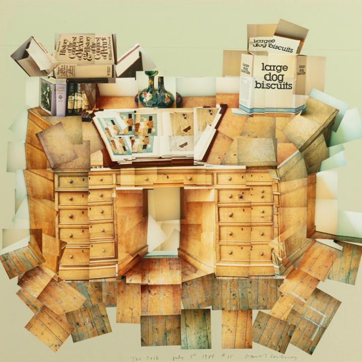 ON THE WALL   The Desk, David Hockney, 1984