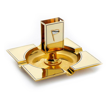 A Gold and Enamel Ashtray, by Cartier, circa 1915