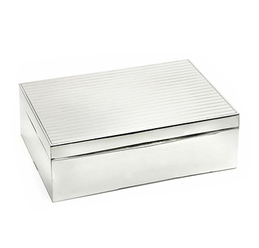 A Sterling Silver Cigar Box, by Cartier