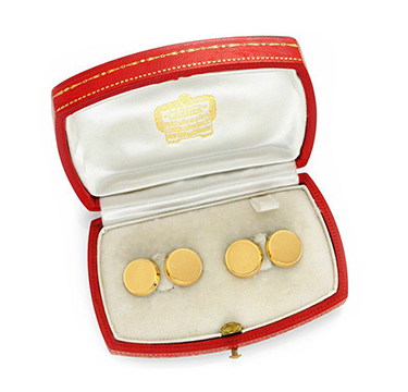 A Pair of 18k Gold Cufflinks, by Cartier, circa 1935