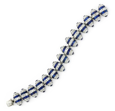 An Art Deco Sapphire and Diamond Bracelet