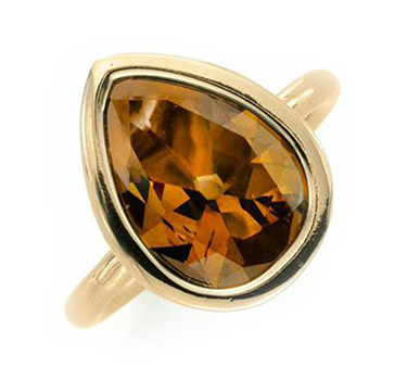 A Colored Diamond And Gold Ring, Of 3.22 Carats
