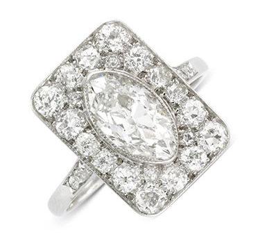 An Edwardian Diamond Plaque Ring