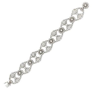 An Edwardian Diamond and Platinum Bracelet, circa 1905