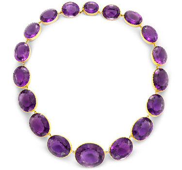 An Amethyst And Gold Riviere Necklace, Circa 1940