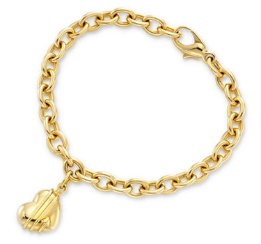 A Gold Heart Charm Bracelet, By Tiffany & Co.