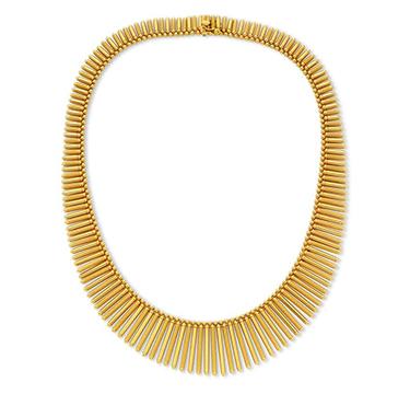 A Gold Fringe Necklace, circa 1940