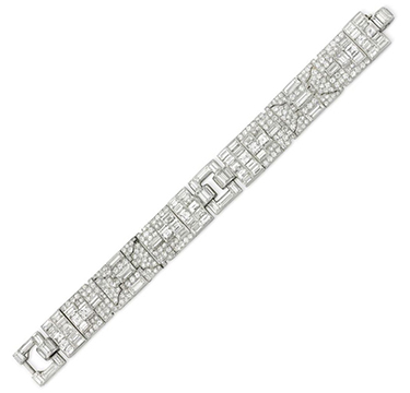 An Art Deco Diamond Bracelet, by Cartier, circa 1920