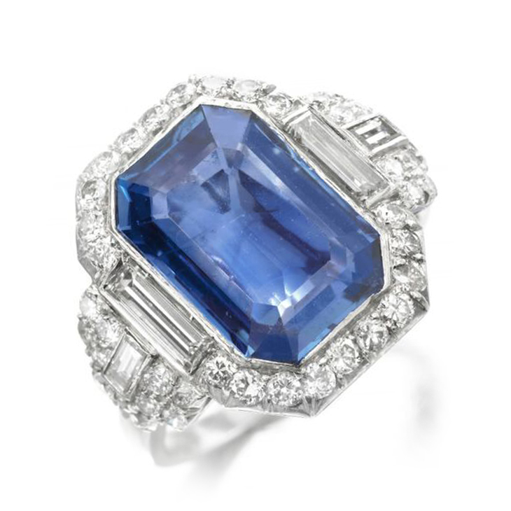 An Art Deco Sapphire and Diamond Ring, by Bulgari, circa 1925