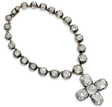 An Antique Diamond Cross Charm Bracelet, circa 19th Century