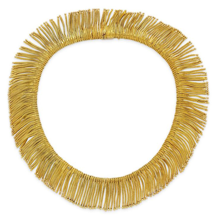 An 18k Gold Fringe Necklace, by Bulgari