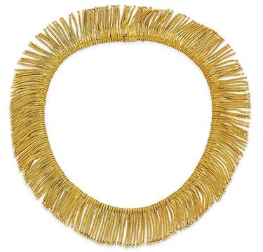 An 18k Gold Fringe Necklace, by Bulgari