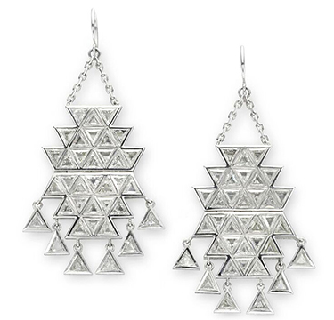 A Pair of Diamond Ear Pendants, by Solange Azagury-Partridge