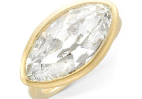 A Marquise-cut Diamond Ring, Weighing 4.60 Carats