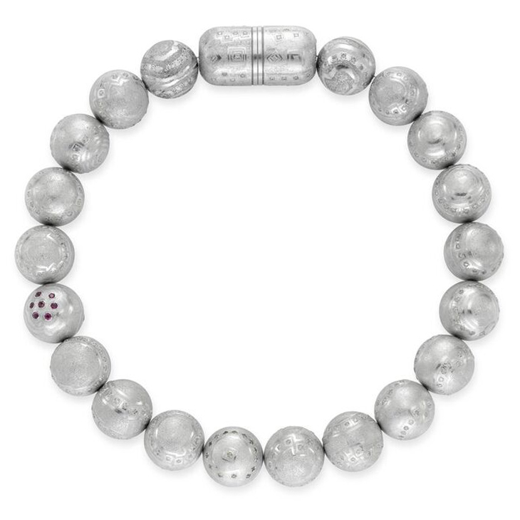 An Aluminum and Diamond Necklace, by Daniel Brush