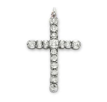 An Antique Old European-cut Diamond Roman Cross Pendant