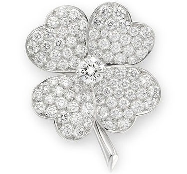A Diamond And Platinum Clover Brooch, By Van Cleef & Arpels, Circa 2005