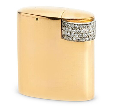 An Art Deco Diamond and Gold Lighter, by Cartier, circa 1930