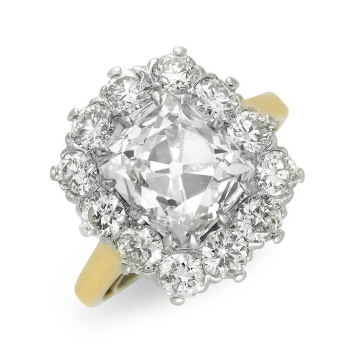 An Early 20th Century Diamond Clustering Ring