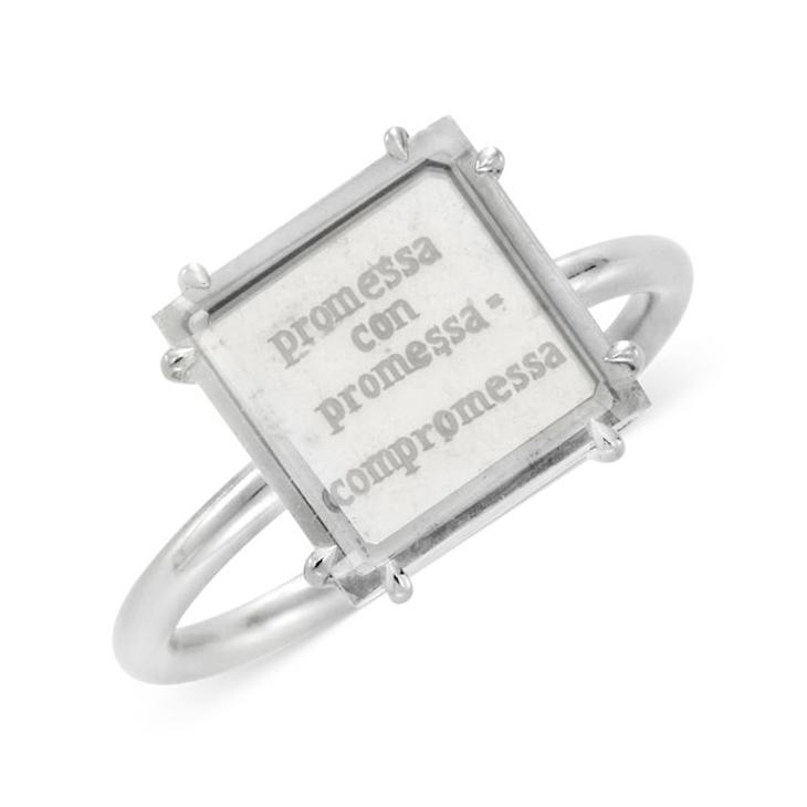 A Portrait Diamond Promise Ring