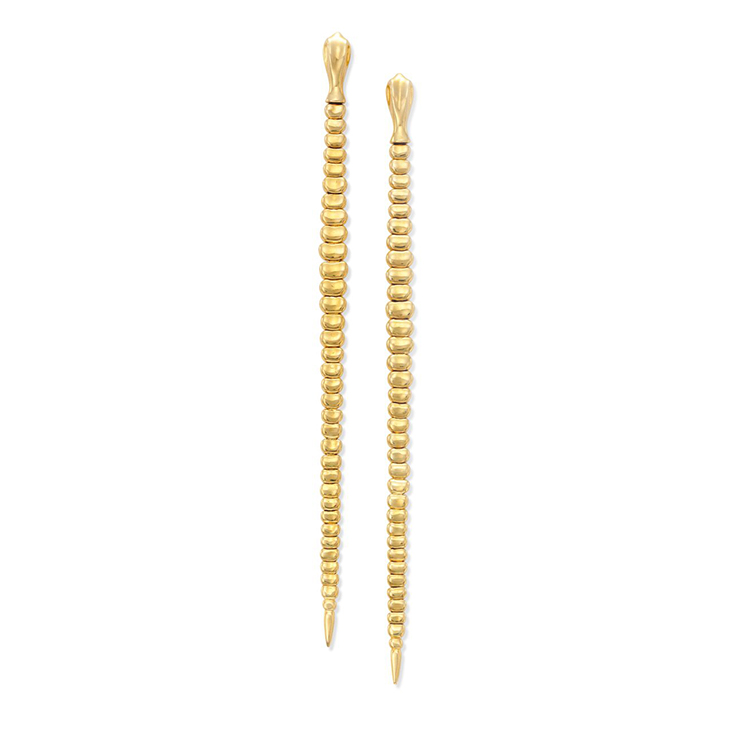A Pair of Gold Snake Ear Pendants, by Elsa Peretti for Tiffany & Co., circa 1995
