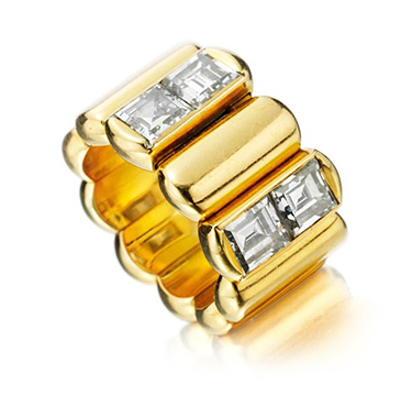 A Diamond and Gold Ring, by JAR