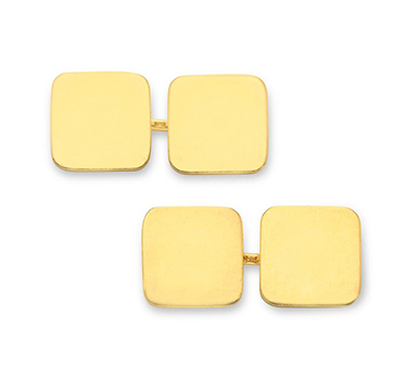 A Pair of Gold Plaque Cufflinks, by Cartier