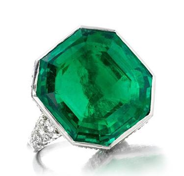 Art Deco Emerald and Diamond Ring, by Cartier, circa 1925