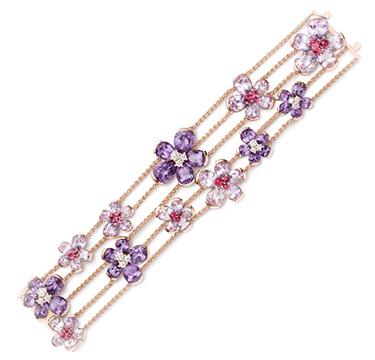 A Diamond and Multi-gem 'Eglantina' Bracelet, by Bodino