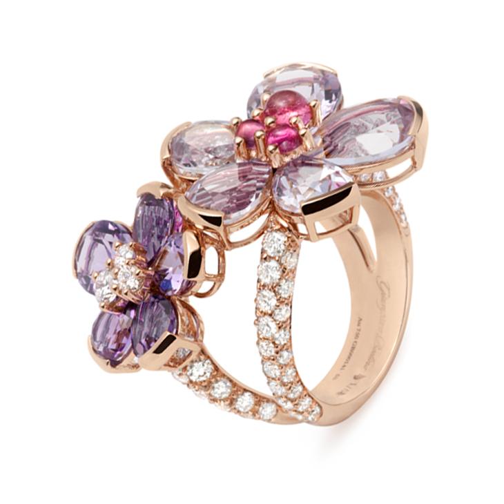 A Diamond and Multi-gem 'Eglantina' Ring, by Bodino