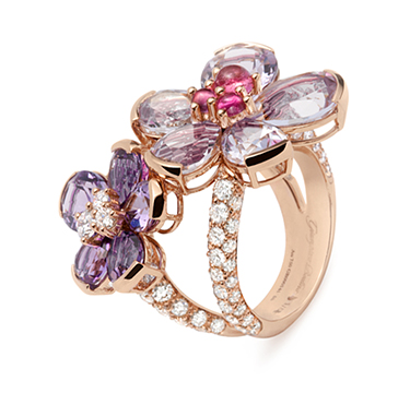 A Diamond and Multi-gem 'Eglantina' Ring, by Bodino