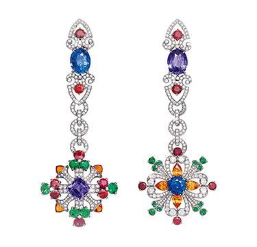 A Pair of Multi-gem 'Colori dell'Iride' Earrings