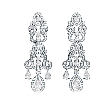 A Pair of Diamond 'Carolina' Earrings, by Bodino