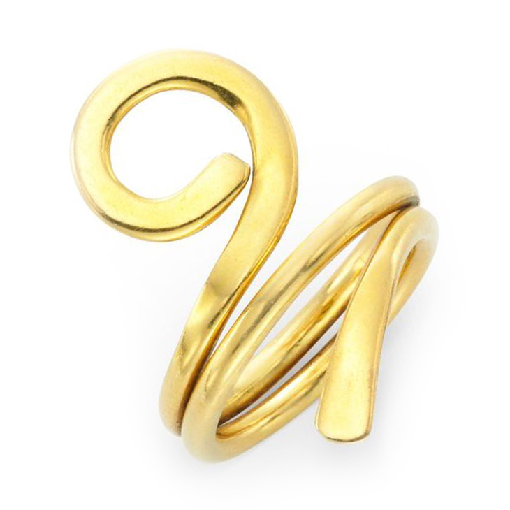 A Gold Free-from Ring, by Dinh Van for Cartier