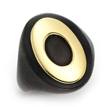 An Ebony and Gold Ring, by Van Cleef & Arpels, circa 1970