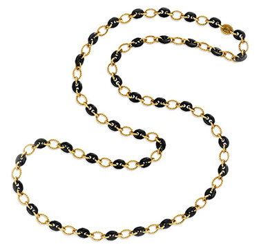 An Onyx and Gold Long Chain Necklace, by Boucheron, circa 1975