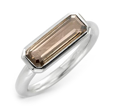 A Contemporary Baguette-cut Diamond Ring