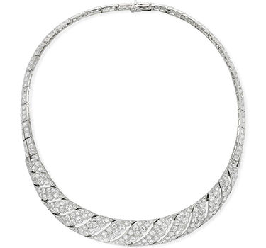 Art Deco Diamond Collar Necklace, By Cartier, Circa 1925