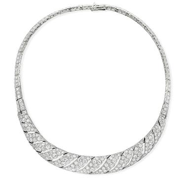 Art Deco Diamond Collar Necklace, by Cartier, circa 1925