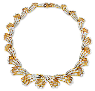 Gold and Diamond Necklace, by Cartier, circa 1950