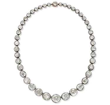 An Antique Diamond Riviere Necklace, circa late 19th Century