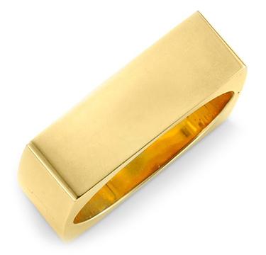 A Square Gold Bangle Bracelet, circa 1965