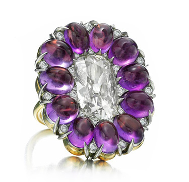 An Amethyst and Diamond Ring, by SABBA