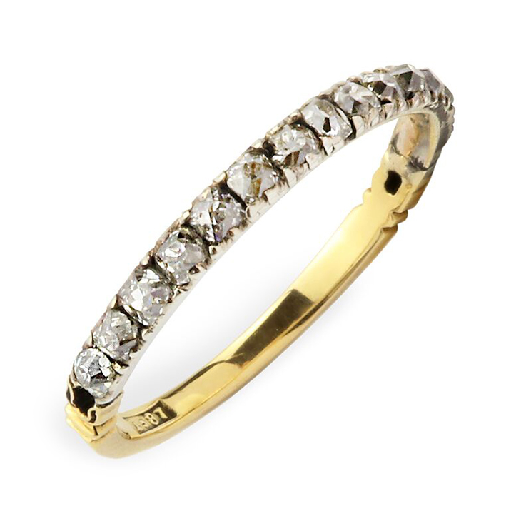 An Antique Diamond Band Ring
