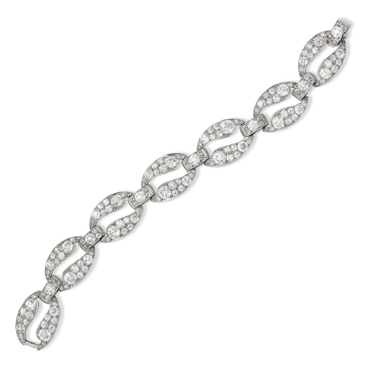 An Art Deco Diamond Bracelet, by Cartier, circa 1925