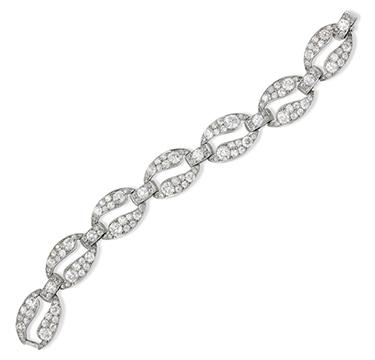 An Art Deco Diamond Bracelet, by Cartier, circa 1925