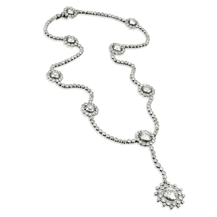 A Belle Epoque Diamond Pendant Necklace, by Cartier, circa 1915