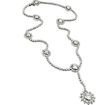 A Belle Epoque Diamond Pendant Necklace, By Cartier, Circa 1915