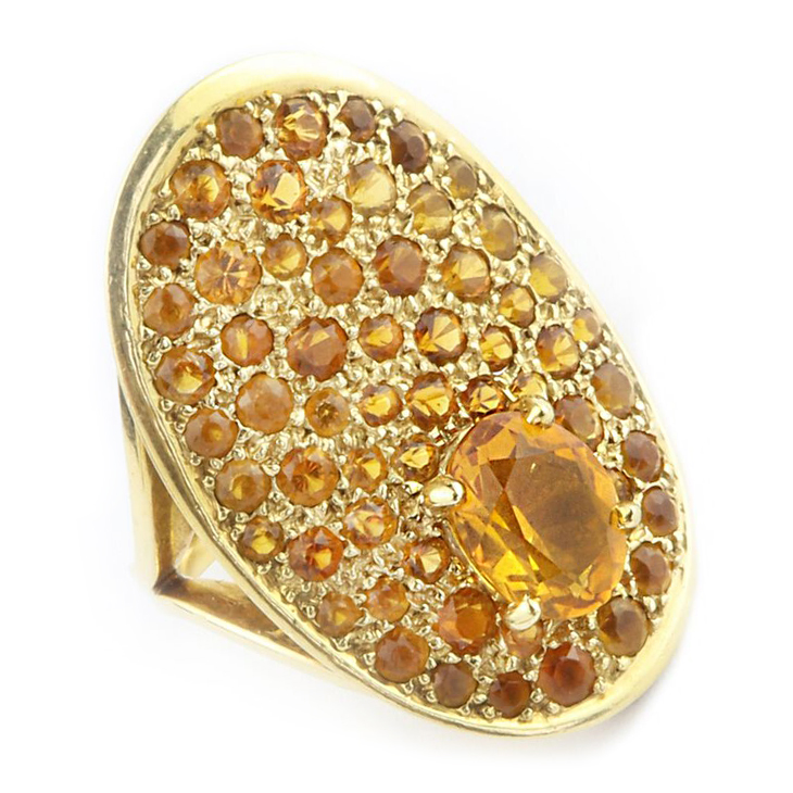 A Citrine Plaque Ring, by Dinh Van for Cartier, circa 1960