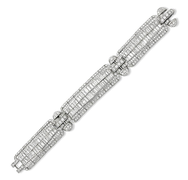 An Art Deco Diamond Bracelet, circa 1930